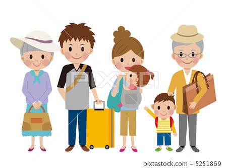 family, outing, elderly couple 5251869