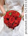 深红色的花束 5253013