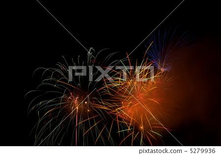 Fireworks display on the lake 5279936