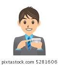 Businessman Illustration Facial expression Smartphone 5281606