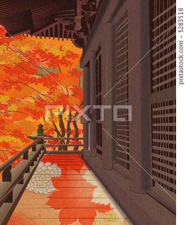 Jingo temple autumn leaves 5283516