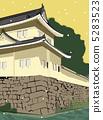 nijo castle, historical structure, snow scene 5283523