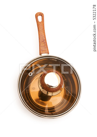 Silver saucepan isolated on the white background 5322178