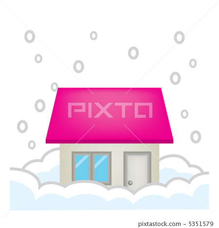 House housing disaster accident insurance illustration heavy snow 5351579