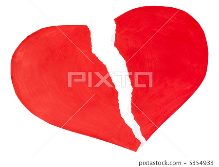 red heart made of paper torn 5354933