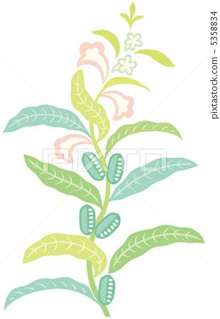 Sesame flower illustration color 5358834