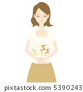 一个抱着她的肚子的女人 5390243