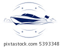 speed boat icon 5393348