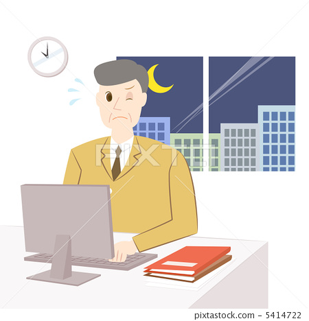 Middle-aged men who work overtime 5414722