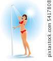 淋浴 女人 女性 5417808