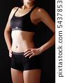 肌肉腹部訓練女性黑背 5437853