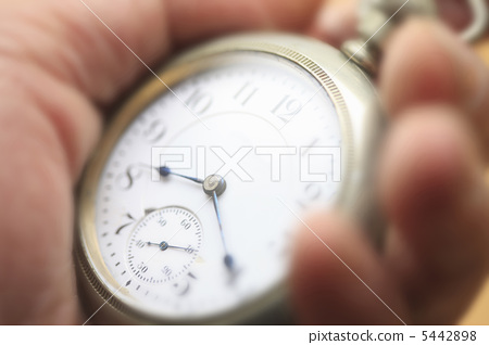 Pocket watch and hand 5442898