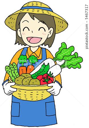 蔬菜 一個年輕成年女性 女生 5467317