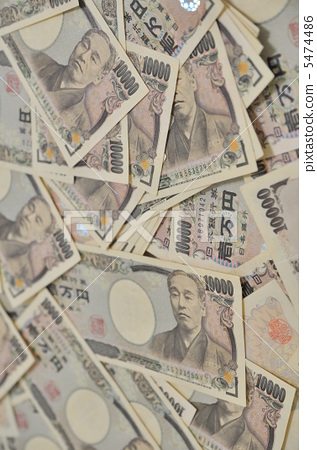 A lot of 10,000 yen bills 5474486