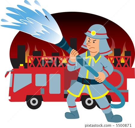 消防员 灭火 死 5500871