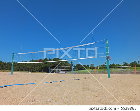 Stock Photo: court, sports, volleyball