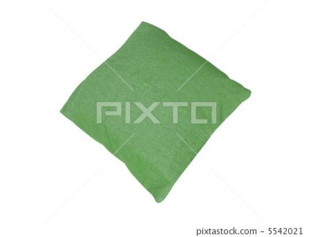 Green pillow isolated on white 5542021