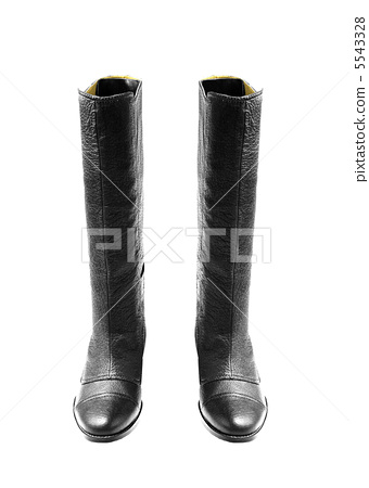leather rubber boots isolated on white background 5543328