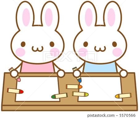 토끼 크레용 5570566