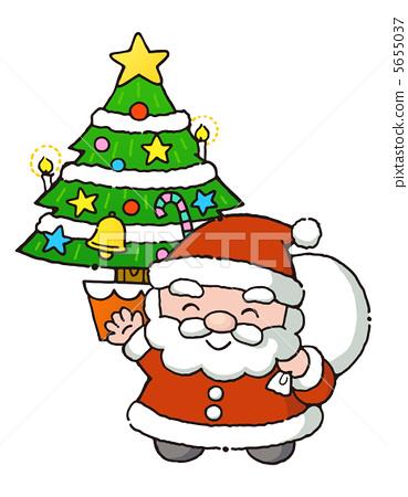 Tree and Santa 5655037