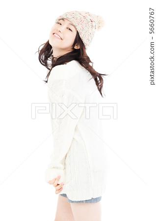 스웨터를 입은 여자 5660767