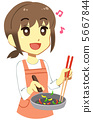 女性做飯 5667844