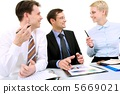 ทีมธุรกิจ,การสนทนา,การแลกเปลี่ยนความคิด 5669021