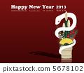 White snake new year card 2013 5678102
