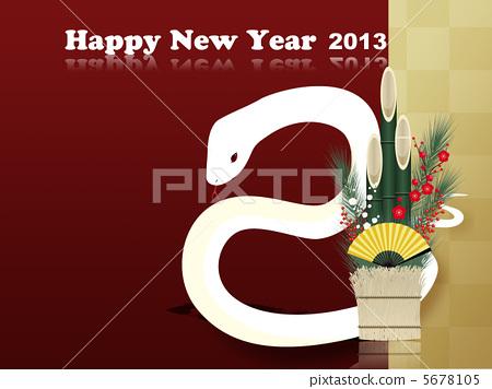 White snake new year card 2013 5678105