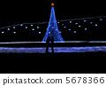 圣诞树 圣诞节灯火 照明 5678366