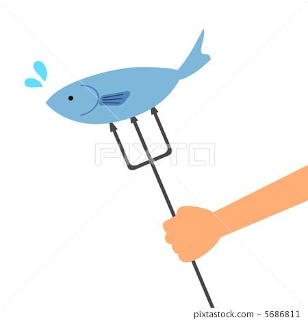 Stock Illustration: fish, catching fish, fishes