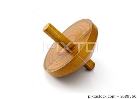 Wooden frame on white background 5689560