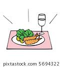Fried shrimp 5694322