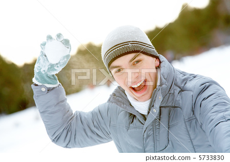 Guy with snowball 5733830
