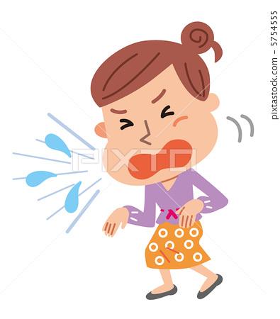 A woman sneezing 5754555