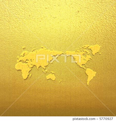 황금 세계지도 a 5770927