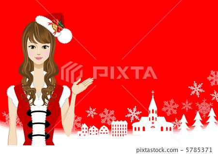 Santa girl / town of Christmas 5785371