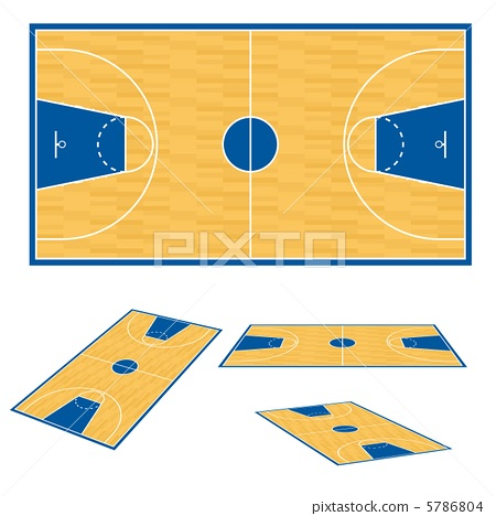 Basketball court floor plan. 5786804