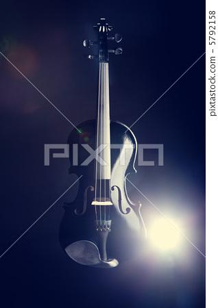 Modern black violin 5792158