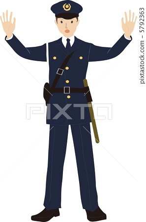 A policeman presenting himself / herself 5792363