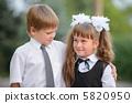 Preschool children a boy and a girl 5820950