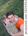 Loving father and son 5820952
