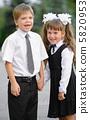 Preschool children a boy and a girl 5820953