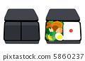 弁当 黒 5860237