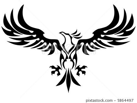 部落的 矢量 鹰 5864497