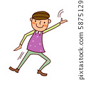 Portrait of Boy dancing 5875129