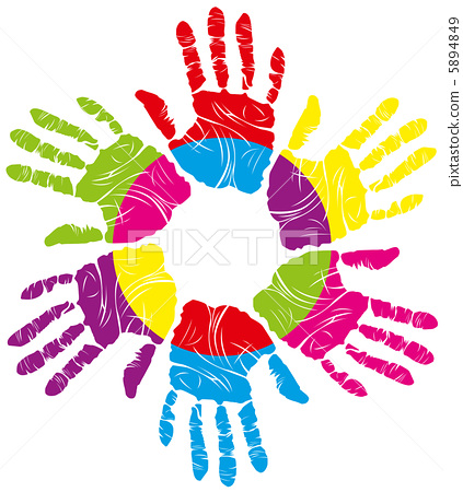 color hand print 5894849