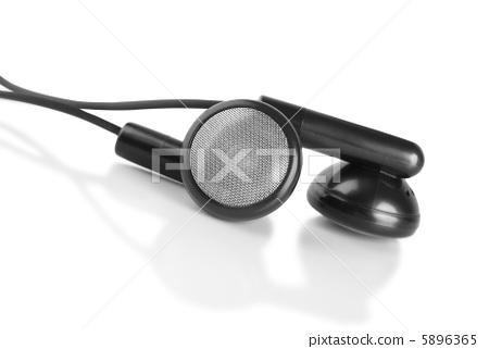 Black headphones isolated 5896365