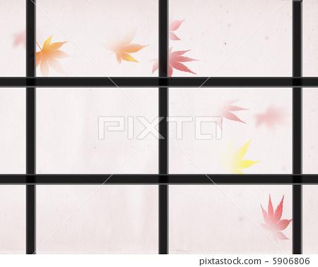 Autumn leaves over a shoji 5906806