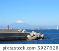 從Morito海岸看到的富士山 5927628